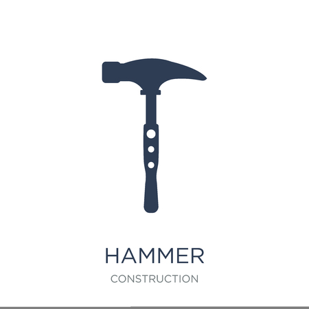 Illustration pour Hammer icon. Trendy flat vector Hammer icon on white background from Construction collection, vector illustration can be use for web and mobile, eps10 - image libre de droit