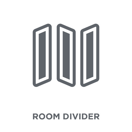Illustration pour room divider  icon. room divider  design concept from Furniture and household collection. Simple element vector illustration on white background. - image libre de droit