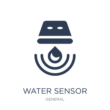 Ilustración de water sensor icon. Trendy flat vector water sensor icon on white background from General collection, vector illustration can be use for web and mobile, eps10 - Imagen libre de derechos