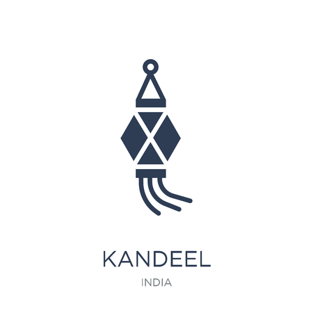 Ilustración de Kandeel icon. Trendy flat vector Kandeel icon on white background from india collection, vector illustration can be use for web and mobile, eps10 - Imagen libre de derechos