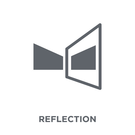 Illustration pour Reflection icon. Reflection design concept from Geometry collection. Simple element vector illustration on white background. - image libre de droit