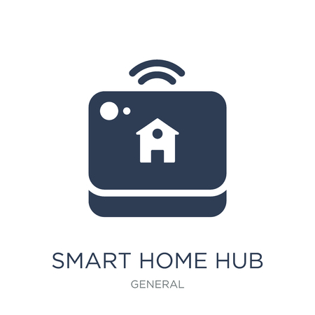 Ilustración de smart home hub icon. Trendy flat vector smart home hub icon on white background from General collection, vector illustration can be use for web and mobile, eps10 - Imagen libre de derechos