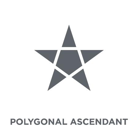 Illustration pour Polygonal ascendant signal icon. Polygonal ascendant signal design concept from Geometry collection. Simple element vector illustration on white background. - image libre de droit