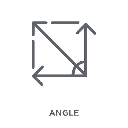 Illustration for Angle icon. Angle design concept from Geometry collection. Simple element vector illustration on white background. - Royalty Free Image
