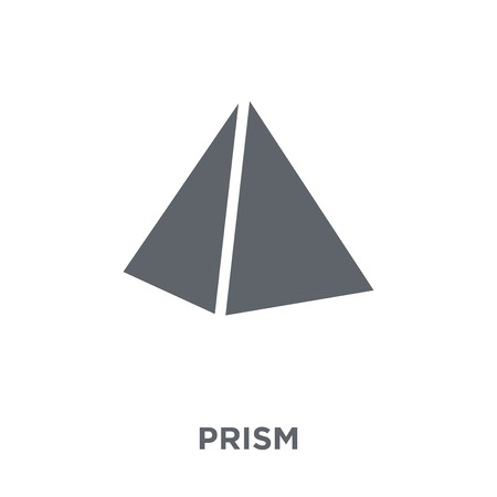 Ilustración de Prism icon. Prism design concept from Geometry collection. Simple element vector illustration on white background. - Imagen libre de derechos