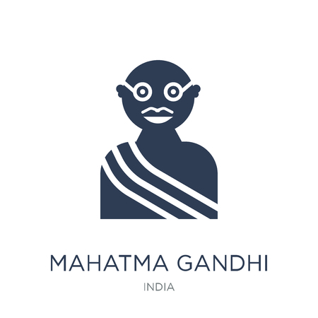 Illustration pour mahatma gandhi icon. Trendy flat vector mahatma gandhi icon on white background from india collection, vector illustration can be use for web and mobile, eps10 - image libre de droit