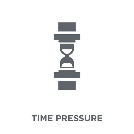 Ilustración de Time pressure icon. Time pressure design concept from Time managemnet collection. Simple element vector illustration on white background. - Imagen libre de derechos