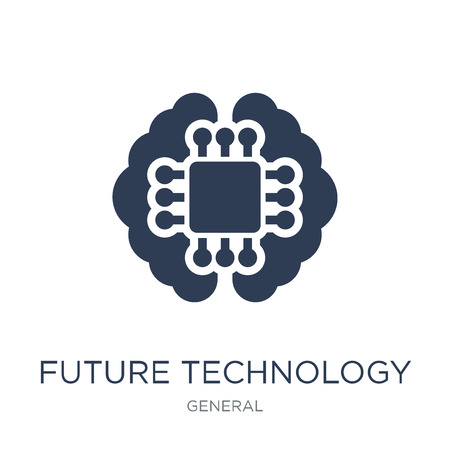 Illustration pour future technology icon. Trendy flat vector future technology icon on white background from general collection, vector illustration can be use for web and mobile, eps10 - image libre de droit