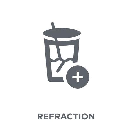 Ilustración de Refraction icon. Refraction design concept from Science collection. Simple element vector illustration on white background. - Imagen libre de derechos