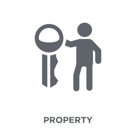 Illustration pour Property icon. Property design concept from  collection. Simple element vector illustration on white background. - image libre de droit