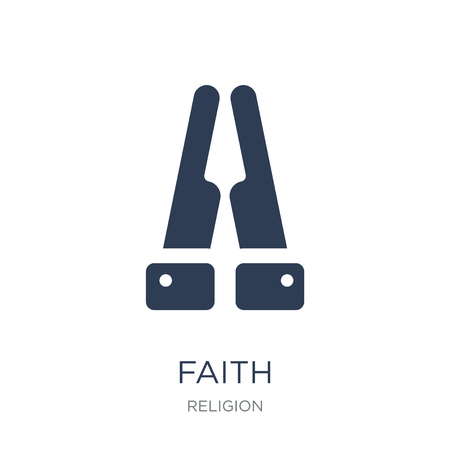 Illustration pour Faith icon. Trendy flat vector Faith icon on white background from Religion collection, vector illustration can be use for web and mobile, eps10 - image libre de droit