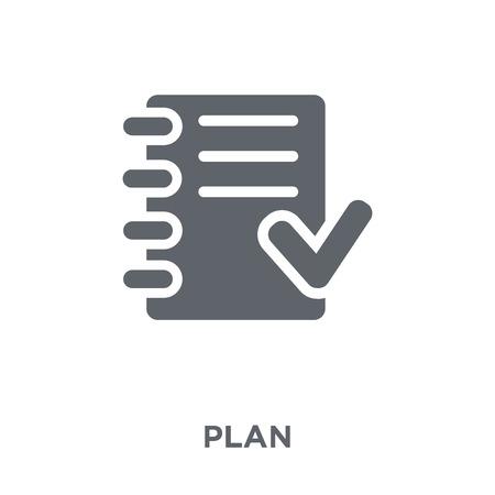 Illustration pour Plan icon. Plan design concept from  collection. Simple element vector illustration on white background. - image libre de droit