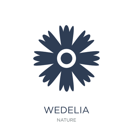 Ilustración de Wedelia icon. Trendy flat vector Wedelia icon on white background from nature collection, vector illustration can be use for web and mobile, eps10 - Imagen libre de derechos