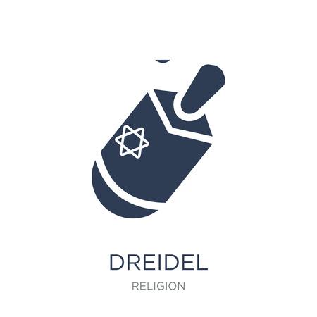 Ilustración de Dreidel icon. Trendy flat vector Dreidel icon on white background from Religion collection, vector illustration can be use for web and mobile, eps10 - Imagen libre de derechos