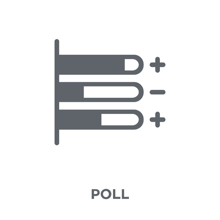 Illustration pour Poll icon. Poll design concept from  collection. Simple element vector illustration on white background. - image libre de droit