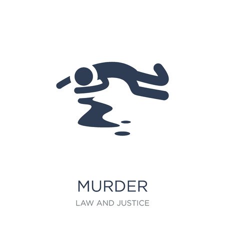 Ilustración de murder icon. Trendy flat vector murder icon on white background from law and justice collection, vector illustration can be use for web and mobile, eps10 - Imagen libre de derechos