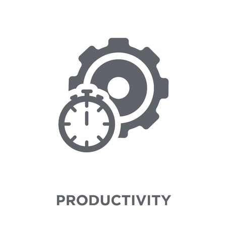Ilustración de Productivity icon. Productivity design concept from  collection. Simple element vector illustration on white background. - Imagen libre de derechos