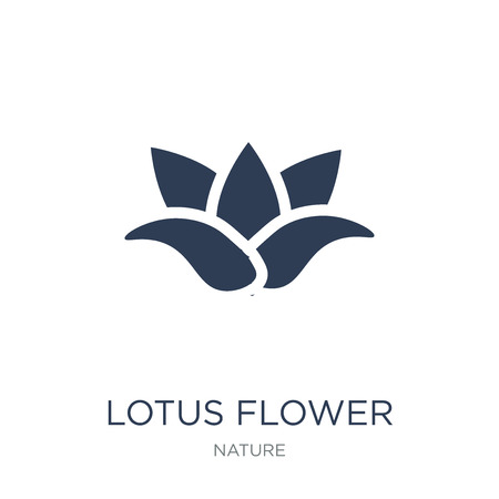 Illustration pour Lotus flower icon. Trendy flat vector Lotus flower icon on white background from nature collection, vector illustration can be use for web and mobile, eps10 - image libre de droit