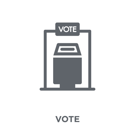 Illustration pour Vote icon. Vote design concept from  collection. Simple element vector illustration on white background. - image libre de droit