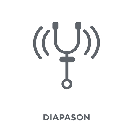 Ilustración de Diapason icon. Diapason design concept from Music collection. Simple element vector illustration on white background. - Imagen libre de derechos