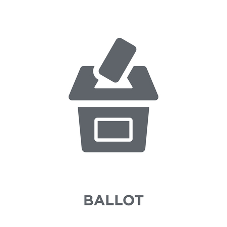 Illustration pour Ballot icon. Ballot design concept from  collection. Simple element vector illustration on white background. - image libre de droit