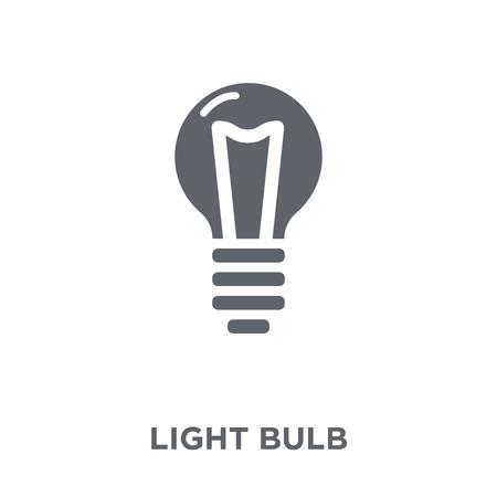 Illustration pour Light bulb icon. Light bulb design concept from  collection. Simple element vector illustration on white background. - image libre de droit