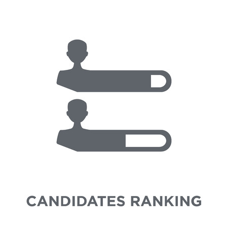 Illustration pour Candidates ranking graphic icon. Candidates ranking graphic design concept from Political collection. Simple element vector illustration on white background. - image libre de droit