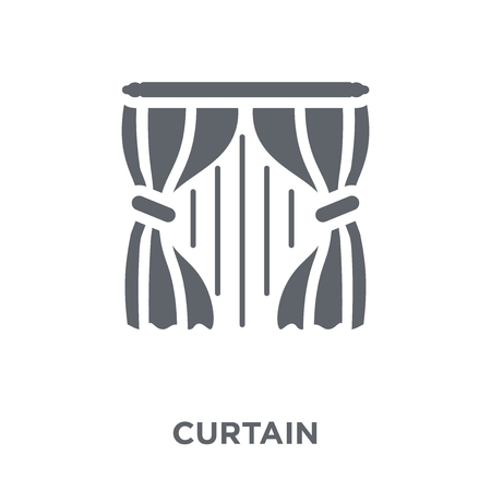 Illustration pour Curtain icon. Curtain design concept from  collection. Simple element vector illustration on white background. - image libre de droit