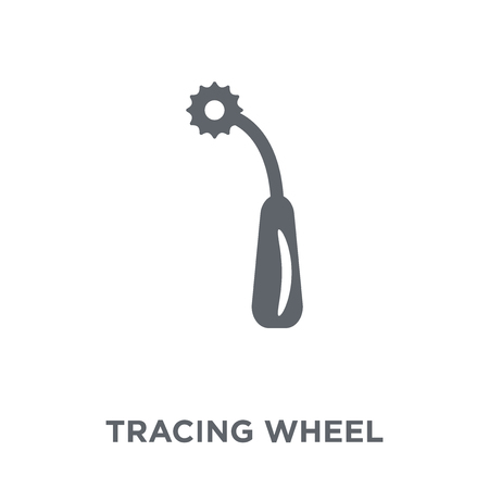 Ilustración de Tracing wheel icon. Tracing wheel design concept from Sew collection. Simple element vector illustration on white background. - Imagen libre de derechos