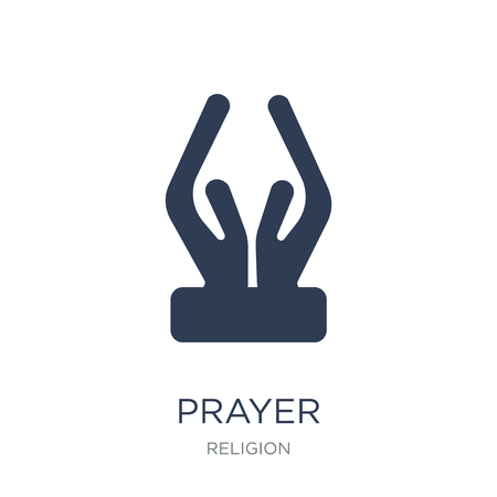 Illustration pour Prayer icon. Trendy flat vector Prayer icon on white background from Religion collection, vector illustration can be use for web and mobile, eps10 - image libre de droit