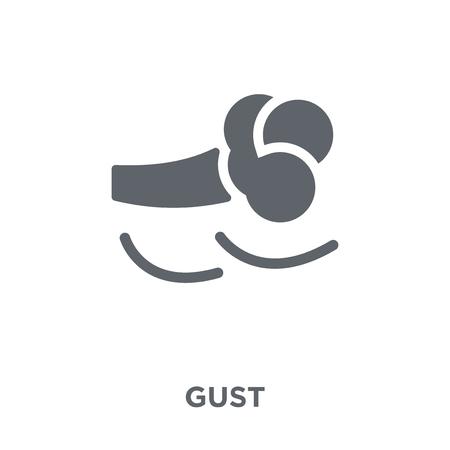 Ilustración de Gust icon. Gust design concept from Weather collection. Simple element vector illustration on white background. - Imagen libre de derechos