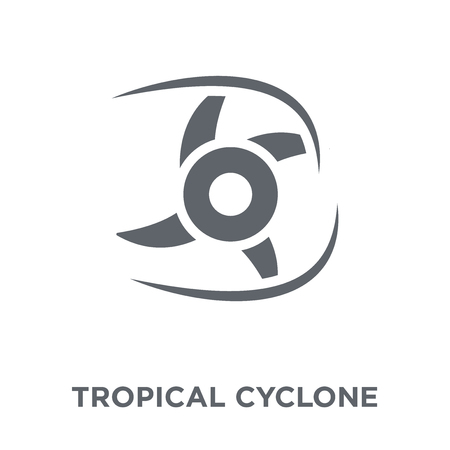 Illustration pour Tropical cyclone  icon. Tropical cyclone  design concept from Tropical cyclone  collection. Simple element vector illustration on white background. - image libre de droit