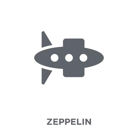 Illustration pour Zeppelin icon. Zeppelin design concept from  collection. Simple element vector illustration on white background. - image libre de droit