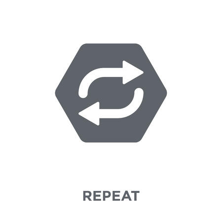 Illustration pour Repeat icon. Repeat design concept from  collection. Simple element vector illustration on white background. - image libre de droit