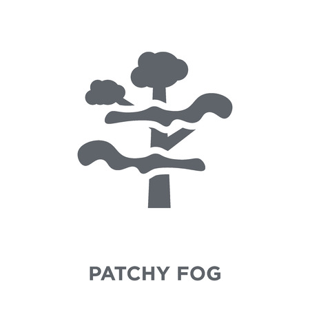 Illustration for patchy fog icon. patchy fog design concept from Weather collection. Simple element vector illustration on white background. - Royalty Free Image