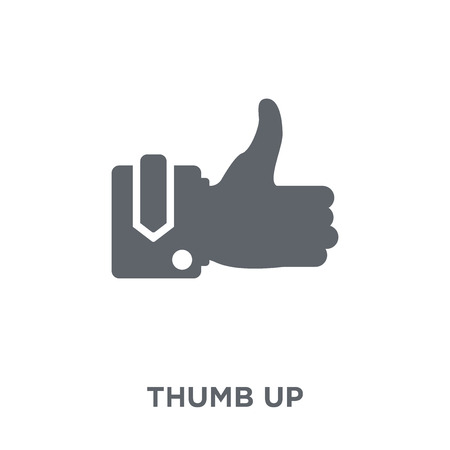 Illustration pour Thumb up icon. Thumb up design concept from  collection. Simple element vector illustration on white background. - image libre de droit