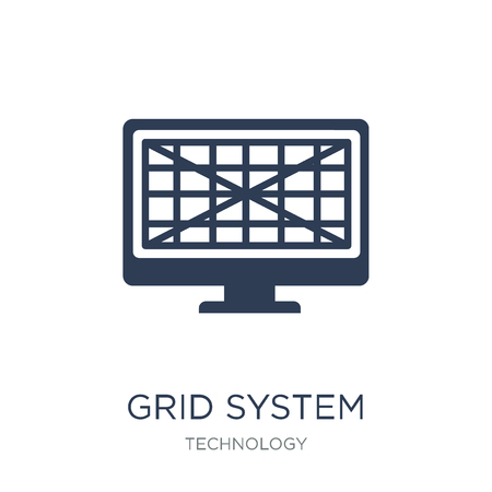 Illustration pour Grid system icon. Trendy flat vector Grid system icon on white background from Technology collection, vector illustration can be use for web and mobile, eps10 - image libre de droit