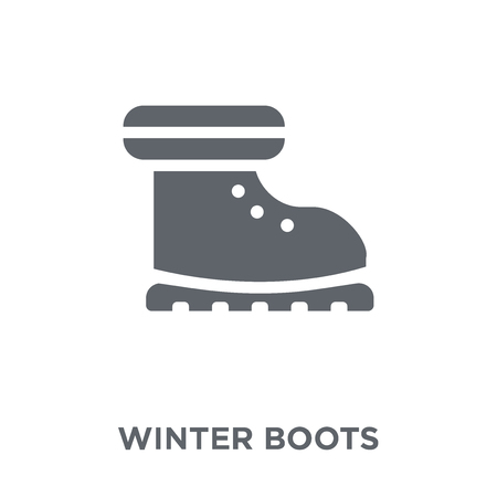 Ilustración de winter Boots icon. winter Boots design concept from Winter collection. Simple element vector illustration on white background. - Imagen libre de derechos