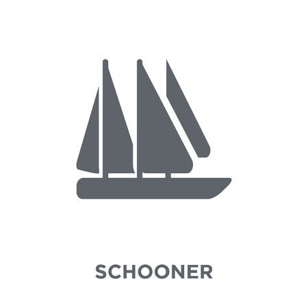 Illustrazione per schooner icon. schooner design concept from Transportation collection. Simple element vector illustration on white background. - Immagini Royalty Free