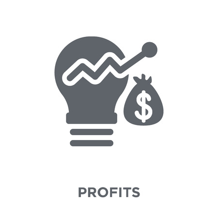 Illustration pour Profits icon. Profits design concept from  collection. Simple element vector illustration on white background. - image libre de droit