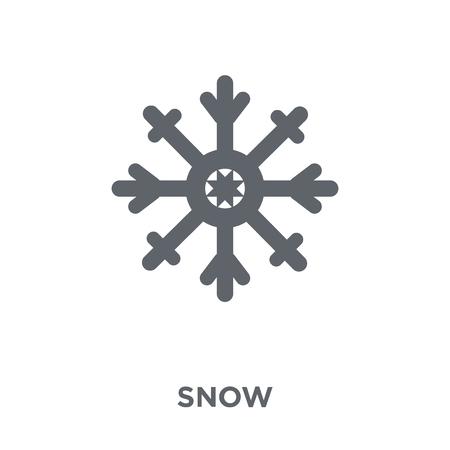 Ilustración de Snow icon. Snow design concept from  collection. Simple element vector illustration on white background. - Imagen libre de derechos