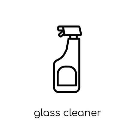 Ilustración de Glass cleaner icon. Trendy modern flat linear vector Glass cleaner icon on white background from thin line Cleaning collection, editable outline stroke vector illustration - Imagen libre de derechos