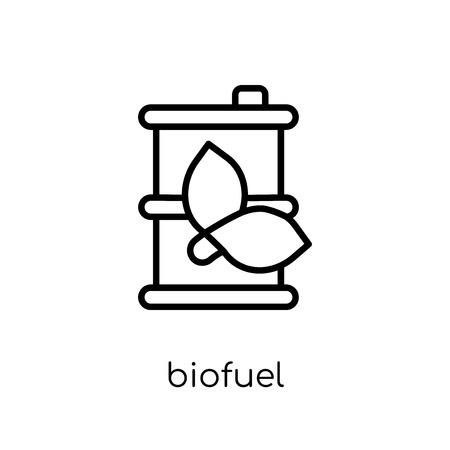 Ilustración de biofuel icon. Trendy modern flat linear vector biofuel icon on white background from thin line Ecology collection, outline vector illustration - Imagen libre de derechos