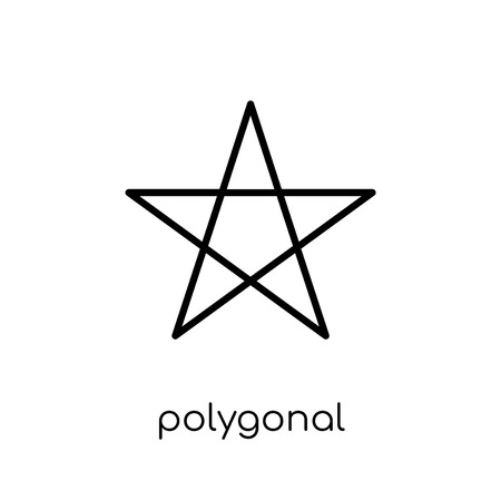 Illustration pour polygonal ascendant signal icon. Trendy modern flat linear vector polygonal ascendant signal icon on white background from thin line Geometry collection, outline vector illustration - image libre de droit