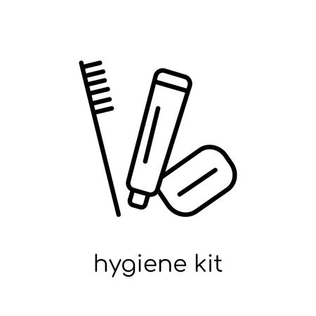 Ilustración de hygiene kit icon. Trendy modern flat linear vector hygiene kit icon on white background from thin line Hygiene collection, outline vector illustration - Imagen libre de derechos