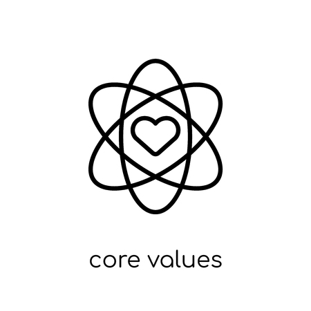 Illustration pour core values icon. Trendy modern flat linear vector core values icon on white background from thin line general collection, editable outline stroke vector illustration - image libre de droit