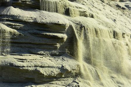 Foto de Bright grey background with layers of sand and clay - Imagen libre de derechos