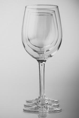 Photo pour Three empty glasses - image libre de droit