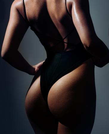 Photo for Fashion art photo of beautiful sensual woman. Beautiful girl posing nude body. Fashion girls with perfect body. Female body silhouette. - Royalty Free Image