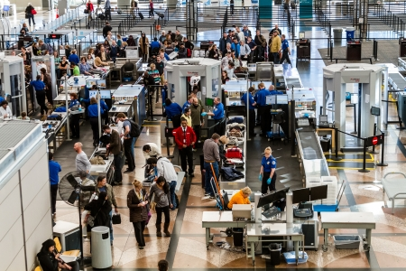 TSA airport security check point